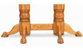 double pedestal claw foot table base