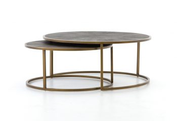 Picture of the Four Hands Shagreen Nesting Coffee Table