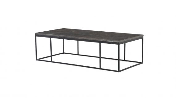 Picture of the Four Hands Harlow Small Coffee Table - Bluestone