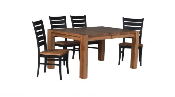 Picture of a Woodworks Heartwood Block Leg Table