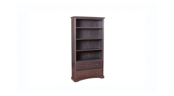Picture of a Woodworks Shaker 2 Drawer Bookcase