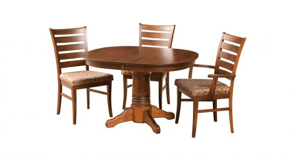 Picture of a Woodworks Traditional Round Pedestal Table