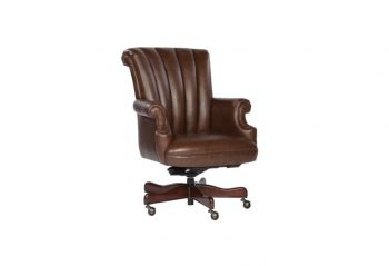 Picture of a Hekman Coffee Leather Executive Chair
